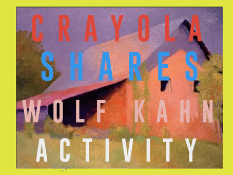 Wolf Kahn Crayola Activity