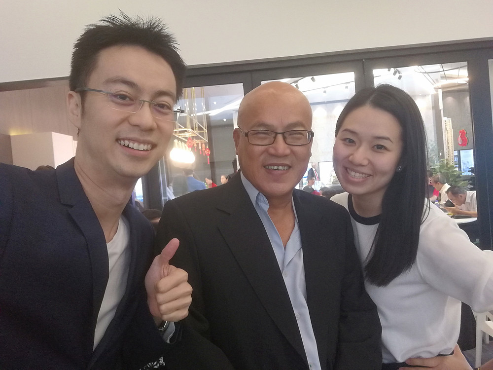 Eugene, senior property agent from PropNex and Hong Onn, the popular lawyer