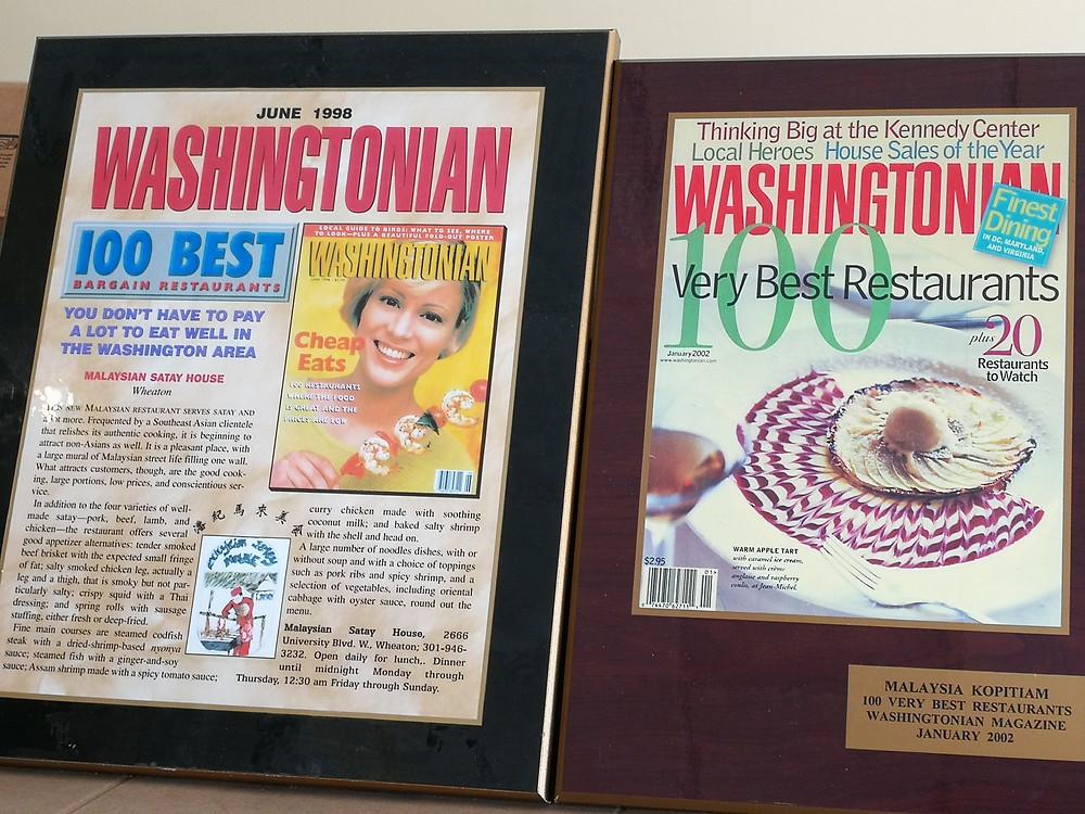 Malaysia Kopitiam featured on Washington Post, 100 Best