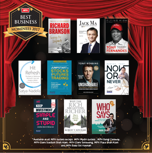 Now or Never was Best Business Nominee in 2017 in MPH Bookstore's Nationwide Rankings