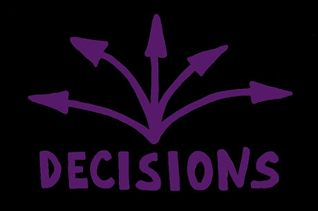 bigstock-word-decision-and-arrows-298695