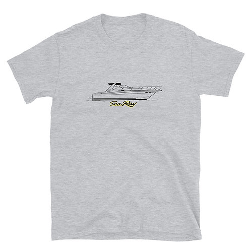 Classic 97' Sea Ray 370 Line Drawing Short-Sleeve Unisex T-Shirt