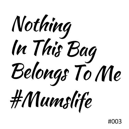 03 Nothing In This Bag Belongs To Me