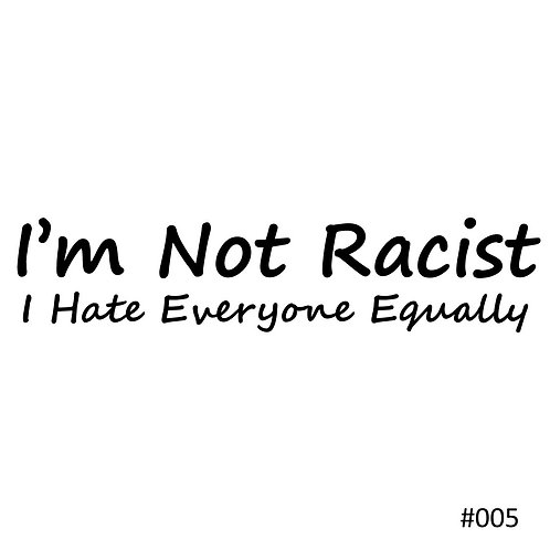 05 I'm Not Racist I Hate Everyone Equally