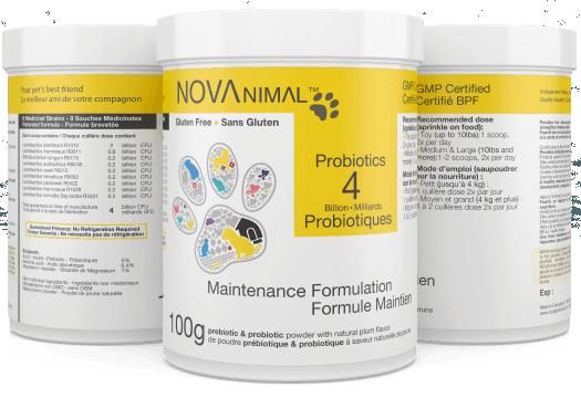 NOVAnimal - Probiotiques Formule Maintien 4 milliards