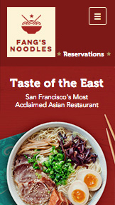 Restaurants website templates – Restaurant Asiatique