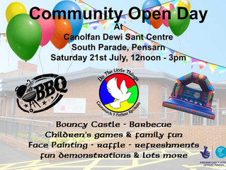 This year's Community Open Day date has just been announced !!!
