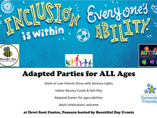 Parties for ALL at Canolfan Dewi Sant Centre!