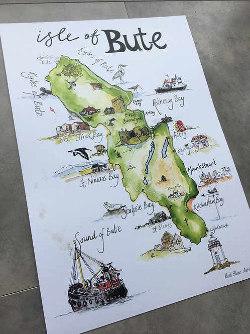 A3 Map of Bute
