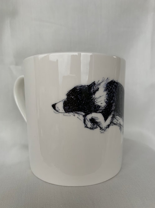 Collie Leaping Mug