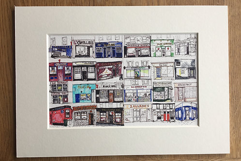 Pubs and Shops of Rothesay Print