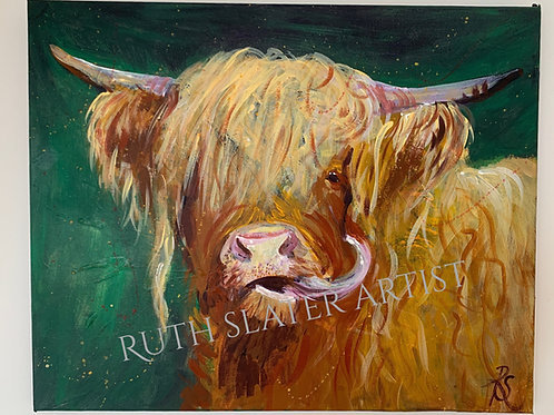 Original Highland Cow Canvas