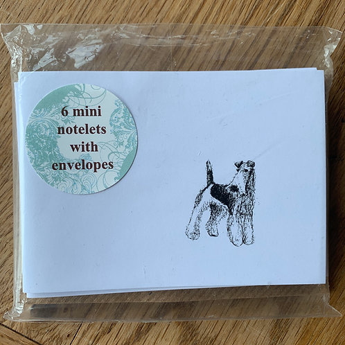 Fox Terrier Notelets (x6)