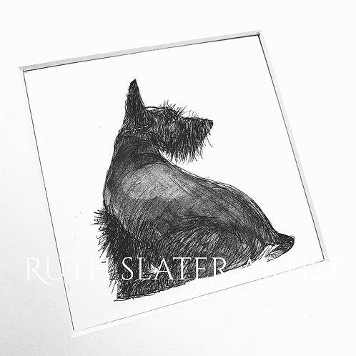 Scottish Terrier (Sitting) Original