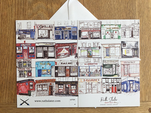 Shops and Pubs A6 Card