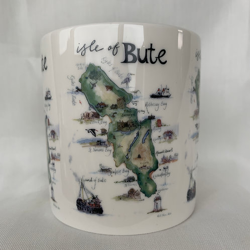 Isle of Bute Map Mug