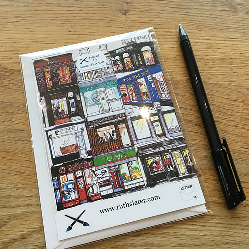 Shop Fronts (3) Card