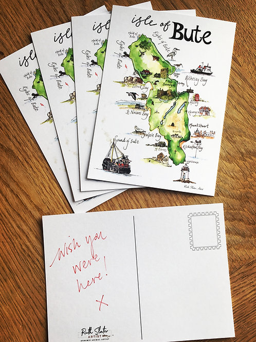 Isle of Bute Postcards x5