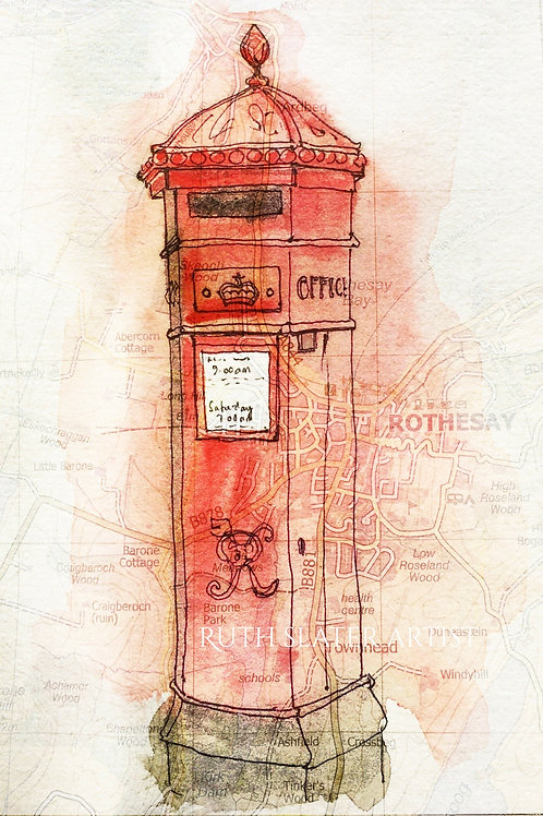 Rothesay Postbox Card