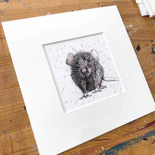 Cute Rat Print