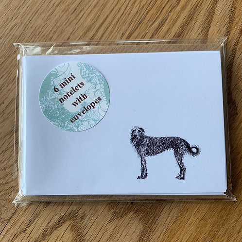 Wolfhound Notelet Pack (x6)