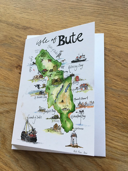 Map of Bute Card