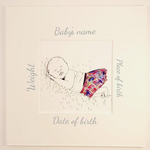 New Baby Print (Tartan Range)