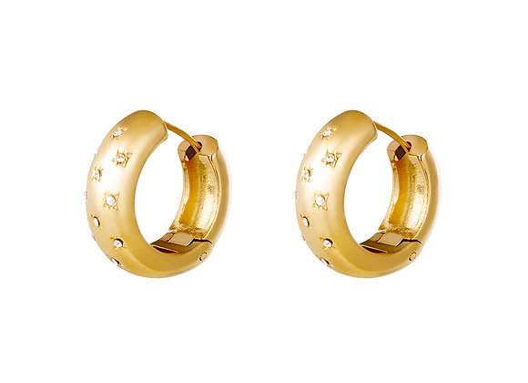 Gold Regal Hoops