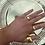 Thumbnail: Adjustable Midnight Ring Gold/Silver