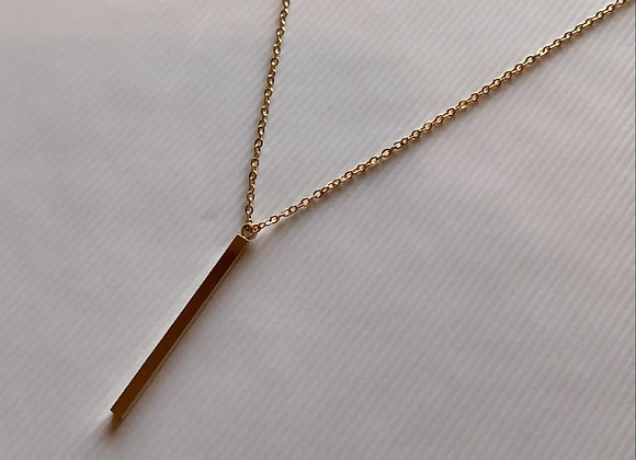 Notions Drop Bar Necklace