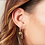 Thumbnail: Heart Drop Earrings Gold/Silver