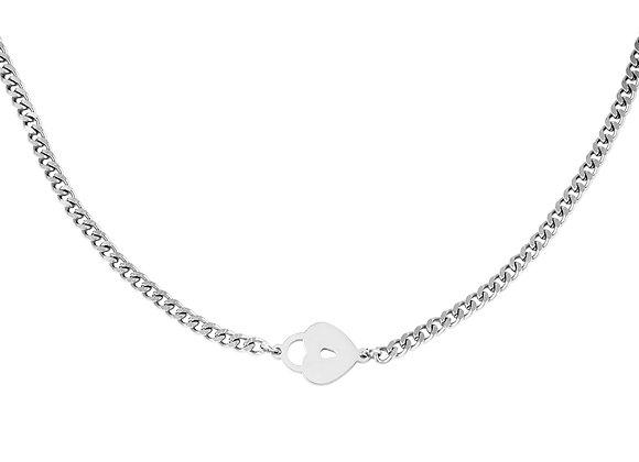 Lotty Love Lock Necklace Silver