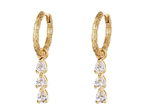 Row Earrings Gold/Silver