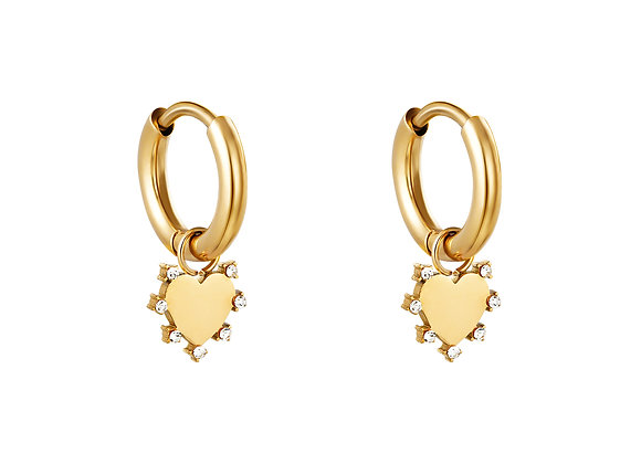 i <3 u Earrings Gold /Silver