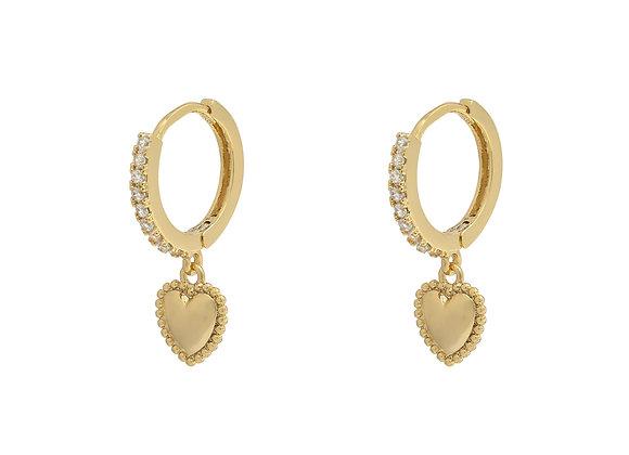 Heart Drop Earrings Gold/Silver