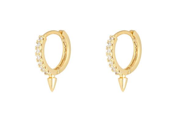 Spike Earrings Gold / silver
