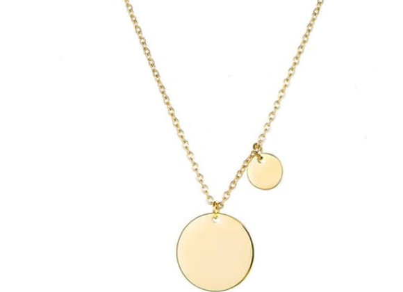 2 Disc Delicate Necklace