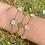 Thumbnail: Lil Funky Petal Bracelet -PINK / GREEN/ WHITE