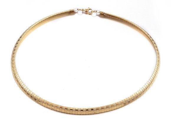 Breeze structured herringbone necklace