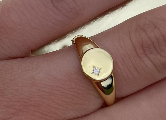 Adjustable Midnight Ring Gold/Silver