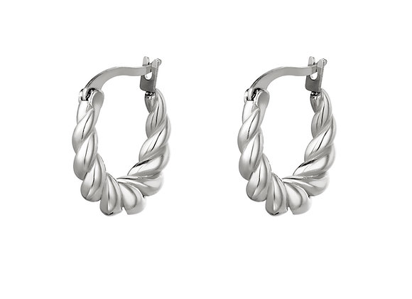 Twisted Mini Hoops gold/silver