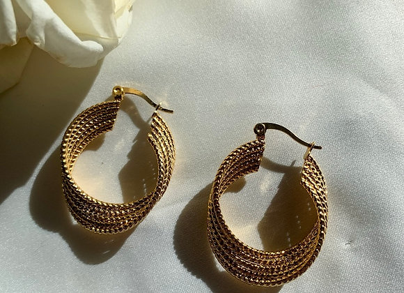 Orphic Textured Hoops