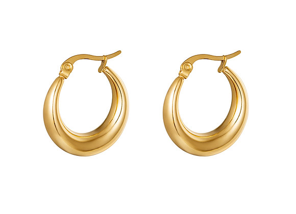 Arched Hoops - Gold & Silver