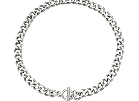 Silver Ivy Tbar Necklace