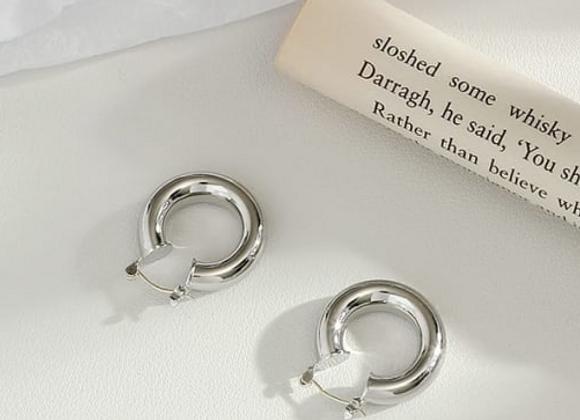 Silver Nicole Hoop Earrings