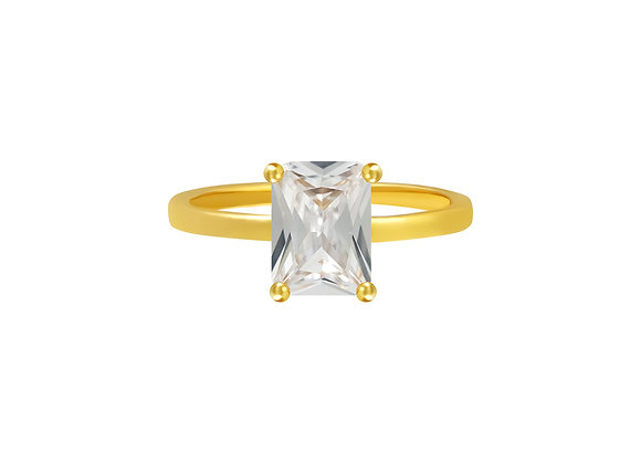 Clear Heirloom Ring Gold/Silver