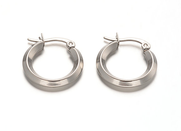 Irenic Silver Hoops