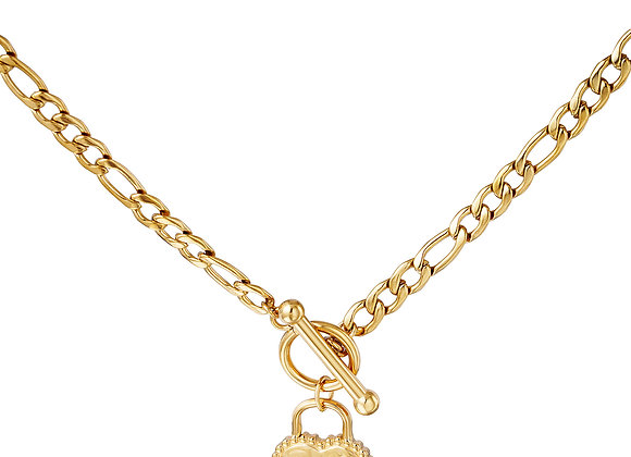 High Standards Charm Tbar Necklace