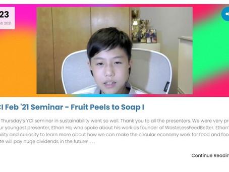 YCI Seminar – Fruit Peels to Soap