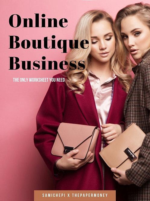 Online Boutique Business Worksheet